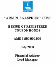 "BONDS OF ""ARMRUSGASPROM"" LTD"