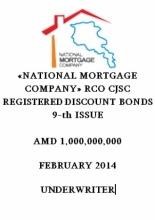 """NATIONAL MORTGAGE COMPANY"" RCO CJSC REGISTERED DISCOUNT BONDS 9-TH ISSUE"