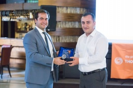 "ARMSWISSBNAK CJSC has been awarded ""The best partner of data supplier"" by Thomson Reuters"