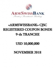 «ARMSWISSBANK» CJSC REGISTERED COUPON BONDS  9-th TRANCHE