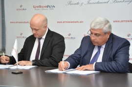 TWO NEW LOAN AGREEMENTS WERE SIGNED BETWEEN ARMSWISSBANK AND EBRD