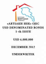 "BONDS OF ""ARTSAKH HEK"" OJSC"