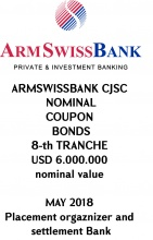 «ARMSWISSBANK» CJSC REGISTERED COUPON BONDS 8-th TRANCHE
