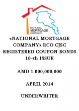 """NATIONAL MORTGAGE COMPANY"" RCO CJSC REGISTERED COUPON BONDS 10-TH ISSUE"