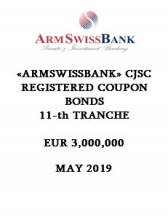 «ARMSWISSBANK» CJSC REGISTERED COUPON BONDS  11-th TRANCHE